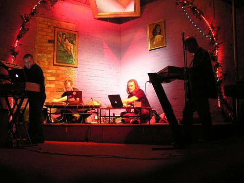 Terminal Quartet Melbourne: Steve Law, Andrew Garton, Ollie Olsen, John Grant. Photo: Alan Bamford